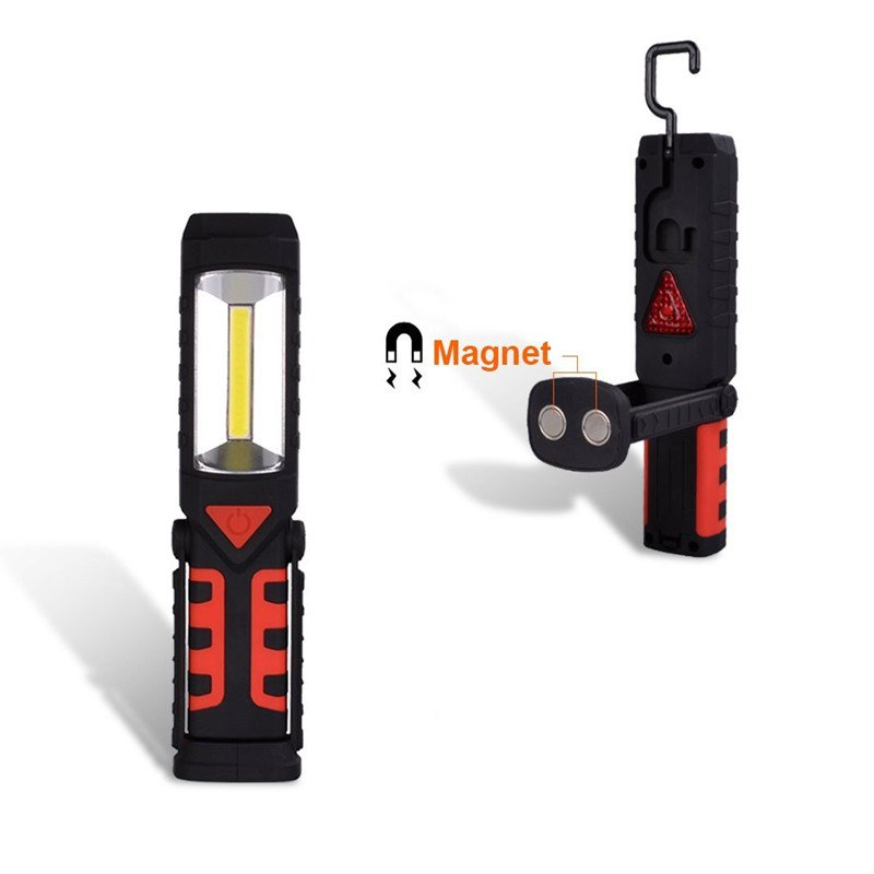 GM10690 3 modes Battery operated emergency Multi-use COB magnetic work light