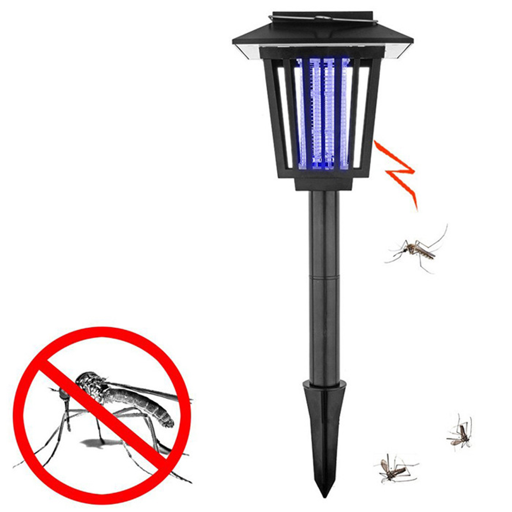 GM10970 solar mosquito killer garden lamp with Purple garden spike lights